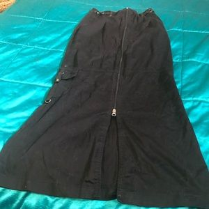 Vex ankle length black pencil skirt